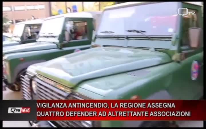 VIGILANZA ANTINCENDIO, LA REGIONE ASSEGNA QUATTRO DEFENDER AD ALTRETTANTE ASSOCIAZIONI