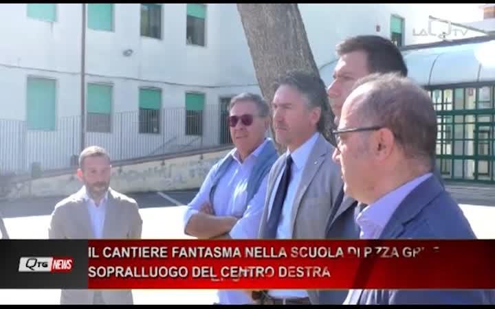 IL CANTIERE FANTASMA NELLA SCUOLA DI P.ZZA GRUE SOPRALLUOGO DEL CENTRO DESTRA