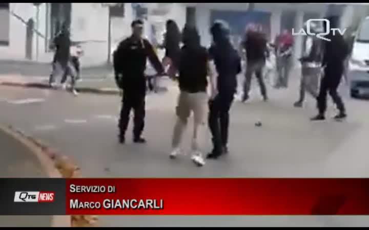 SCONTRI PRE-PARTITA FRANCAVILLA L'AQUILA I TIFOSI AQUILANI RAGGIUNTI DA DASPO