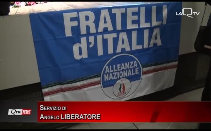 Giorgia Meloni a L'Aquila per la prima Conferenza Nazionale Enti Locali di Fratelli d'Italia