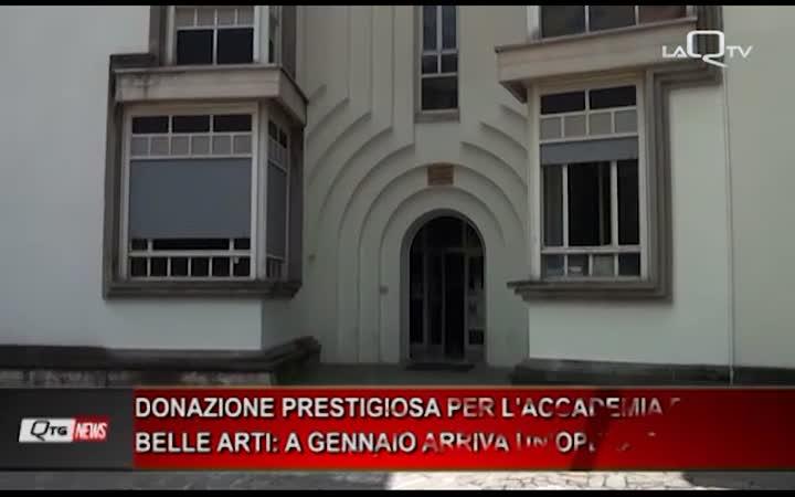 PRESTIGIOSA DONAZIONE PER L'ACCADEMIA DI BELLE ARTI: A GENNAIO ARRIVA UN'OPERA DI JOSEPH BEUYS