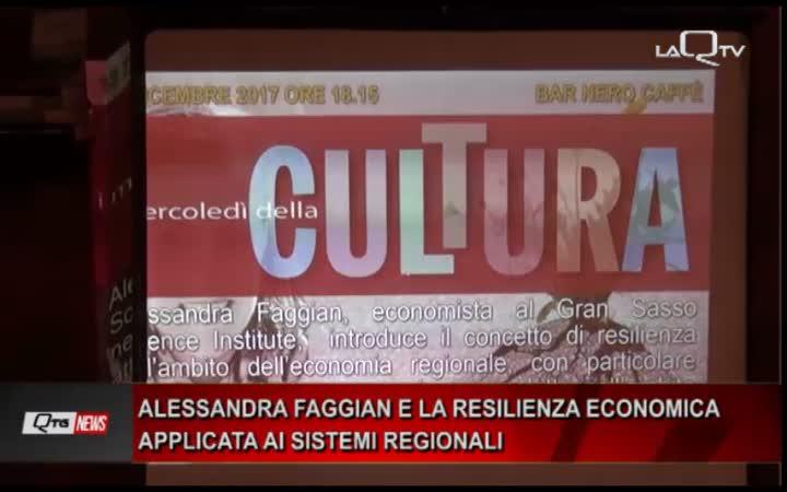 ALESSANDRA FAGGIAN (GSSI) E LA RESILIENZA ECONOMICA APPLICATA AI SISTEMI REGIONALI