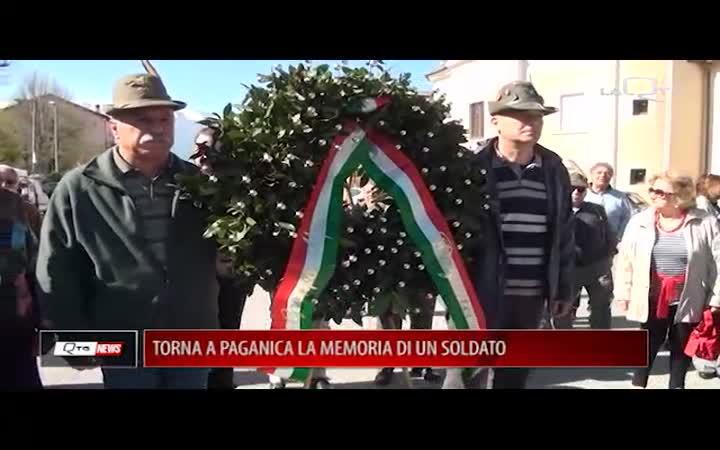 TORNA A PAGANICA LA MEMORIA DI UN SOLDATO