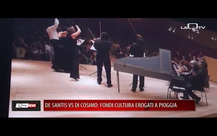 FONDI CULTURA COMUNE: DE SANTIS VS DI COSIMO