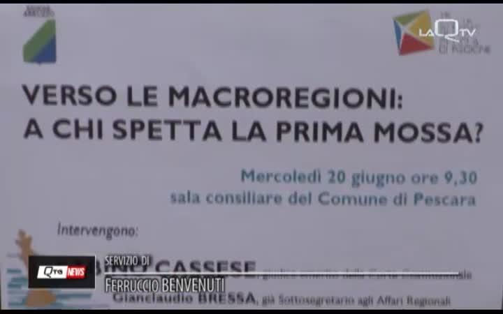 D'ALFONSO RILANCIA LE MACROREGIONI