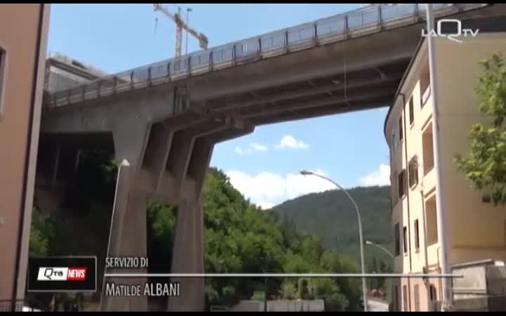 L'AQUILA, PONTE BELVEDERE : CANTIERE PRIMI MESI 2019