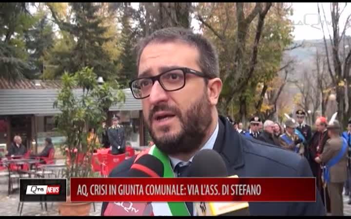 AQ, CRISI IN GIUNTA COMUNALE: VIA L'ASSESSORE DI STEFANO