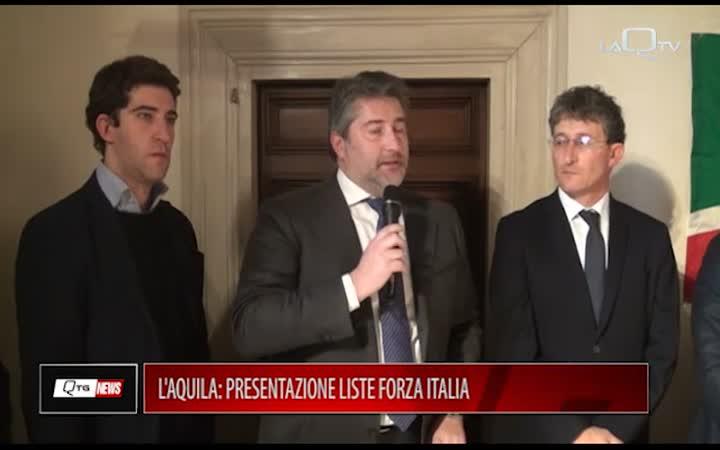 L'AQUILA: PRESENTAZIONE LISTE FORZA ITALIA
