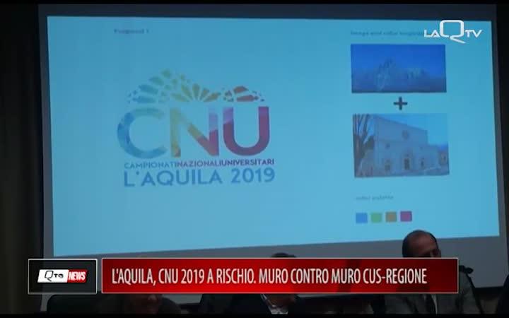 L'AQUILA, CNU 2019 A RISCHIO: MURO CONTRO MURO CUS-REGIONE