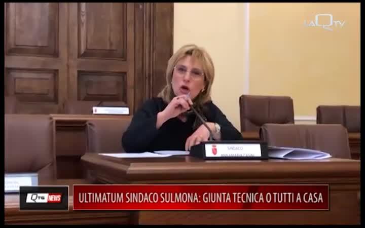 ULTIMATUM SINDACO SULMONA: GIUNTA TECNICA O TUTTI A CASA