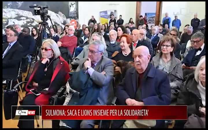 SULMONA:SACA E LIONS INSIEME PER LA SOLIDARIETA'
