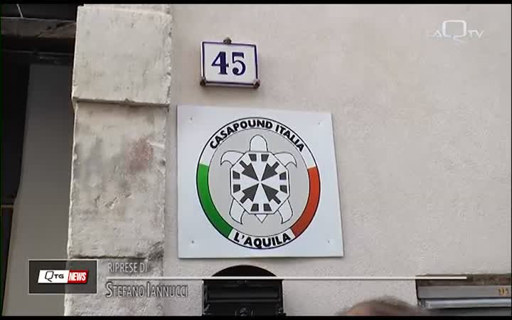 CASAPOUND ITALIA L'AQUILA RIABBRACCIA PIAZZA FONTESECCO