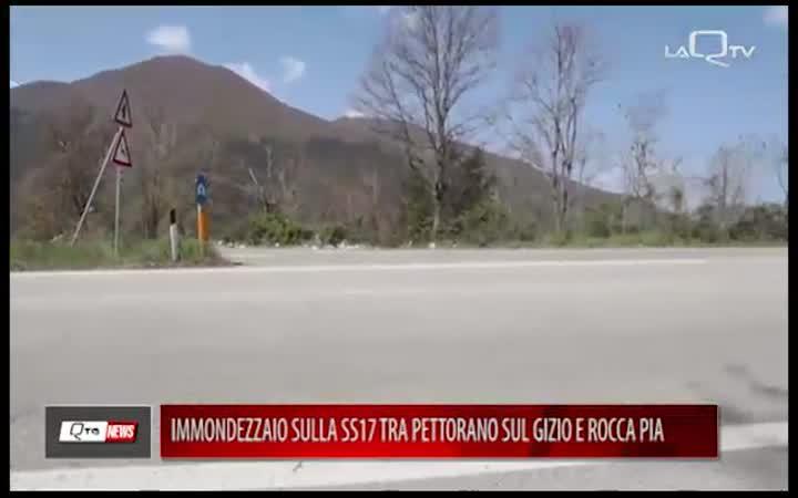 IMMONDEZZAIO SU SS17 TRA PETTORANO E ROCCA PIA