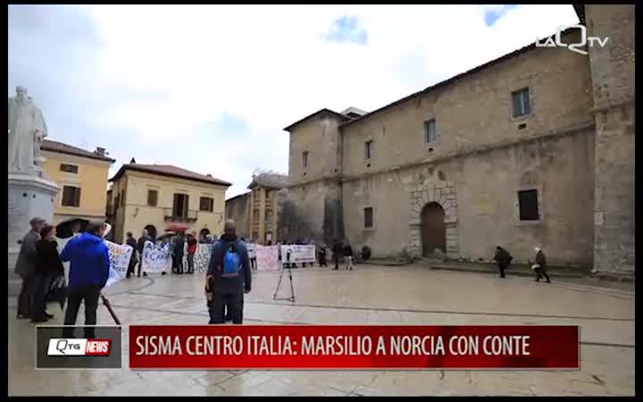 SISMA CENTRO ITALIA: MARSILIO A NORCIA CON IL PREMIER CONTE