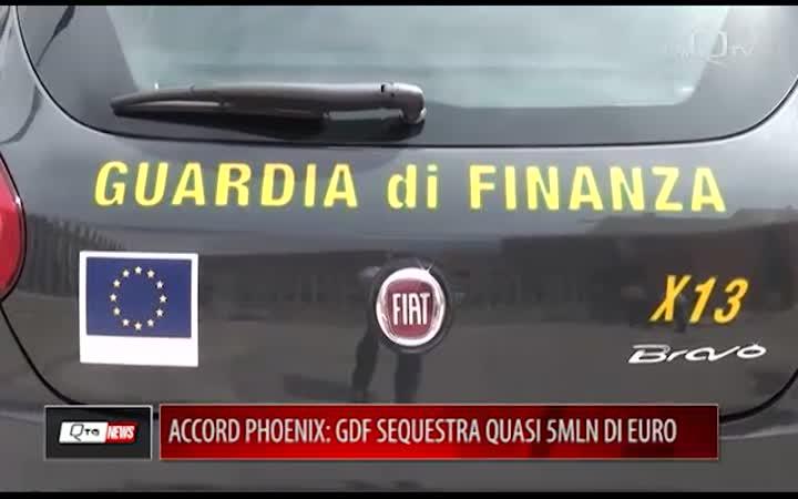 ACCORD PHOENIX: GDF SEQUESTRA QUASI 5MLN DI EURO
