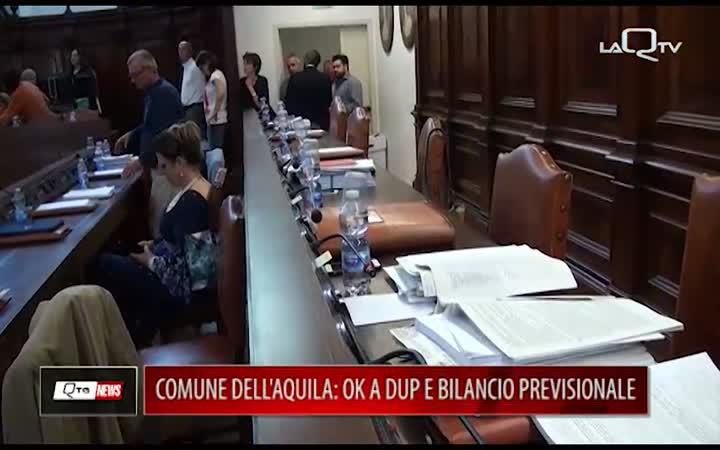 COMUNE L'AQUILA: OK A DUP E BILANCIO PREVISIONALE