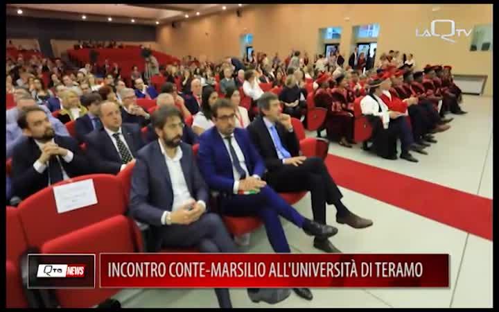 INCONTRO CONTE-MARSILIO ALL'UNIVERSITA' DI TERAMO