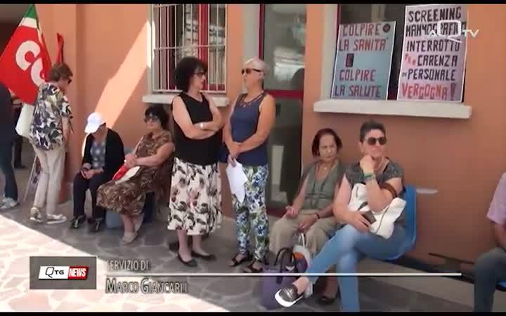 SIT-IN AL CUP DEL SAN SALVATORE: LA CGIL CHIEDE MAGGIORI INVESTIMENTI SANITARI