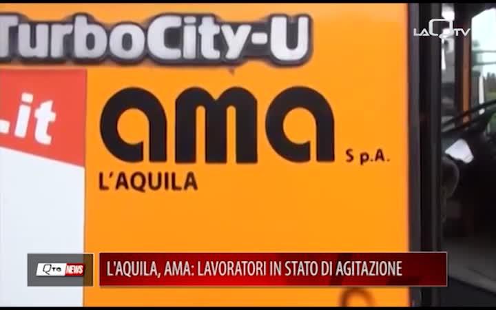 L'AQUILA, AMA: LAVORATORI IN STATO DI AGITAZIONE