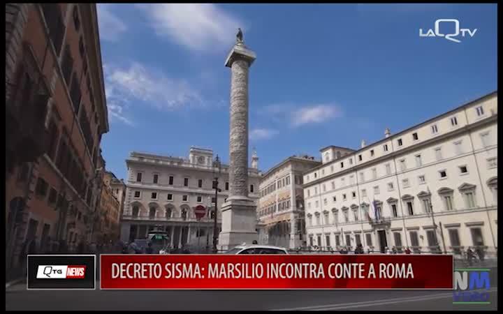 DECRETO SISMA: MARSILIO INCONTRA CONTE A ROMA
