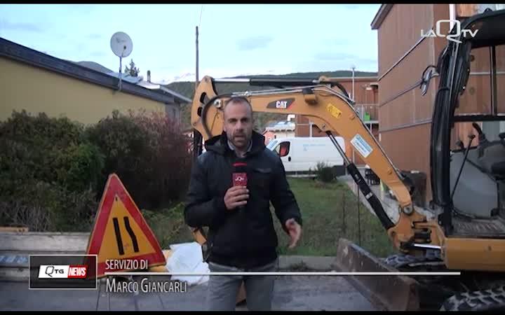 L'Aquila: guasto alla rete idrica, operai a lavoro per il ripristino