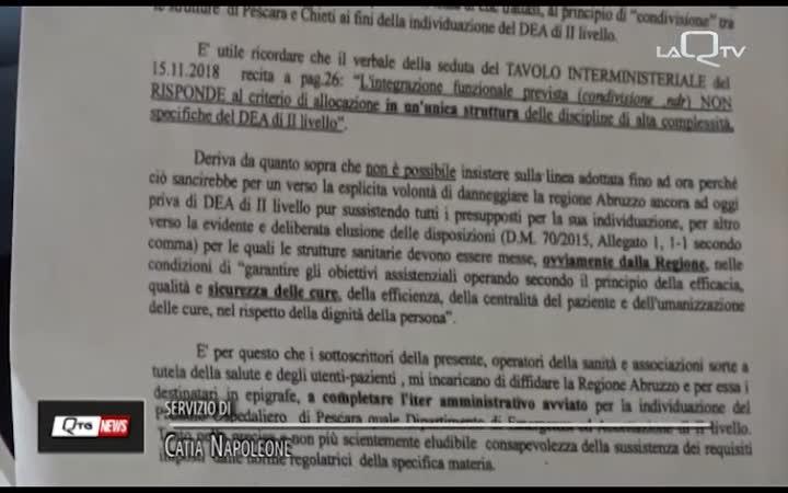 PE, CONSULTA DEA II LIVELLO DIFFIDA LA REGIONE