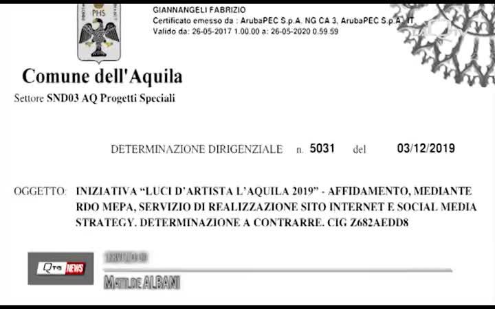 LUCI D'ARTISTA: 5 MILA EURO PER LA PROMOZIONE SOCIAL