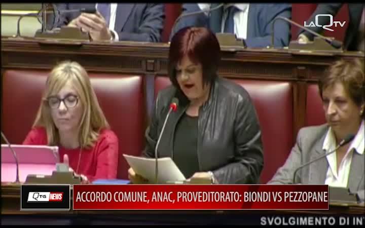 ACCORDO COMUNE ANAC E PROVVEDITORATO OPERE PUBBLICHE: BIONDI VS PEZZOPANE