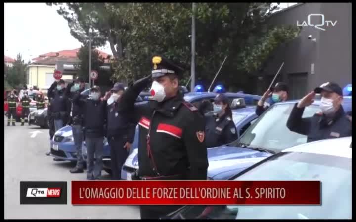 PESCARA: L'OMAGGIO DELLE FORZE DELL'ORDINE AL S.SPIRITO