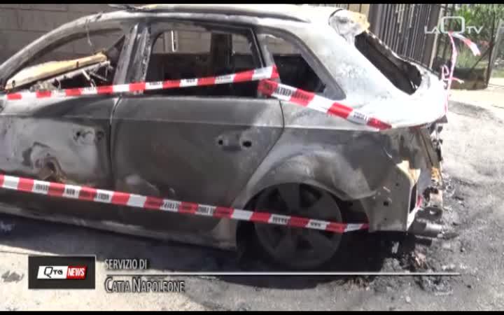 AUTO INCENDIATA A MONTESILVANO
