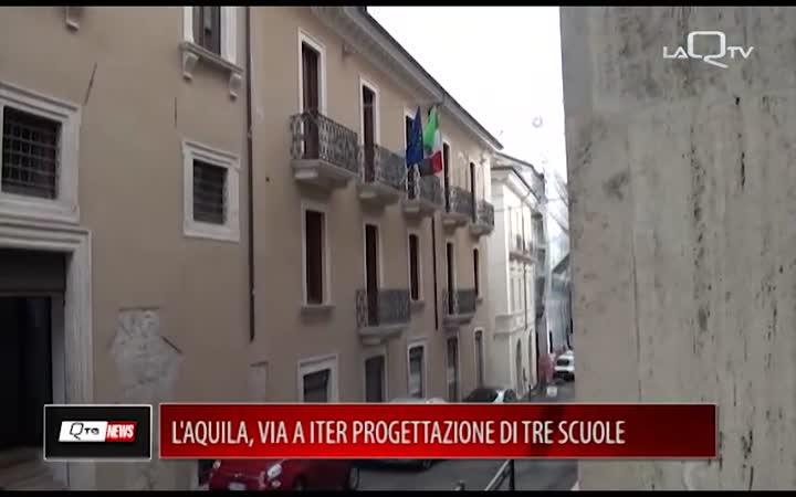 L'AQUILA, VIA A ITER PROGETTAZIONE DI TRE SCUOLE