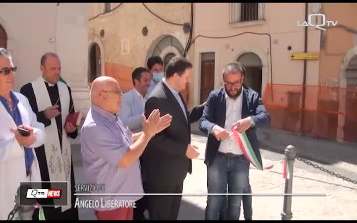 L'AQUILA, PIAZZA FONTESECCO RITROVA IL SUO SIMBOLO