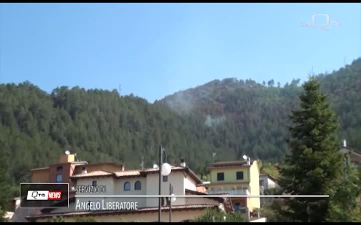 INCENDI L'AQUILA: ANCORA INTERVENTI A MONTE PETTINO