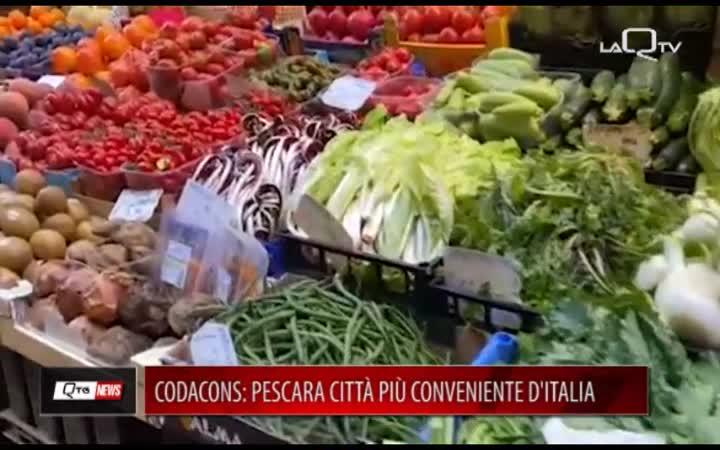 CODACONS: PESCARA CITTÀ PIÙ CONVENIENTE D'ITALIA