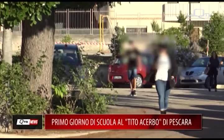 PRIMO GIORNO DI SCUOLA AL TITO ACERBO DI PESCARA