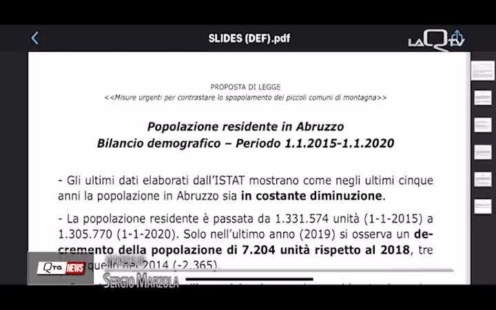 Spopolamento aree montane: la proposta di legge del Presidente Marco Marsilio