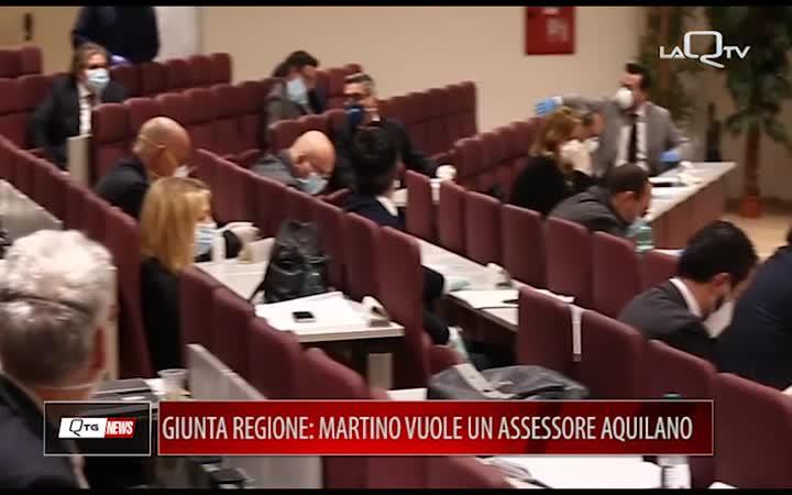 GIUNTA REGIONE: MARTINO VUOLE ASSESSORE AQUILANO