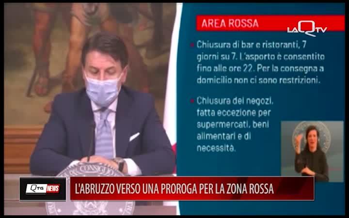 L'Abruzzo verso la proroga per la zona rossa. Indice Rt a 1,08