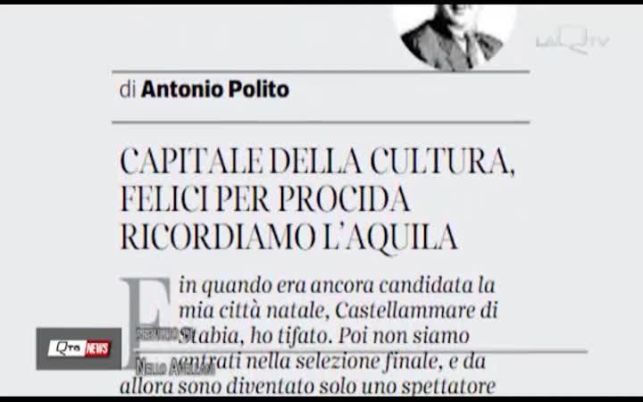 CAPITALE CULTURA:ELOGIO DELL'AQUILA SUL CORRIERE