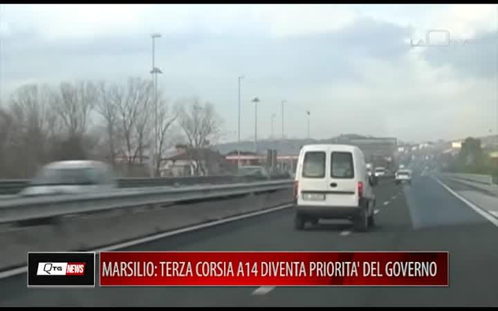 MARSILIO:TERZA CORSIA A14 DIVENTA PRIORITA' DEL GOVERNO, ORA NON SI PERDA TEMPO