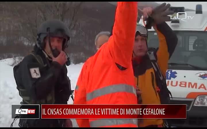 IL CNSAS COMMEMORA LE VITTIME DI MONTE CEFALONE A 4 ANNI DALLA TRAGEDIA