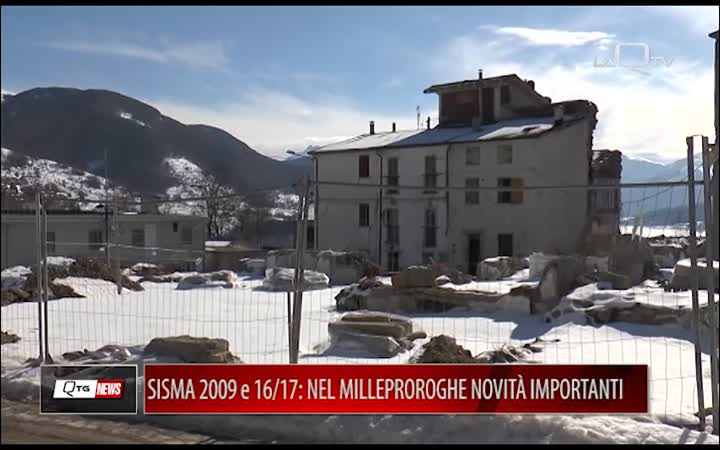 SISMA 2009 e 2016/17, PEZZOPANE: NEL MILLEPROROGHE NOVITÀ IMPORTANTI
