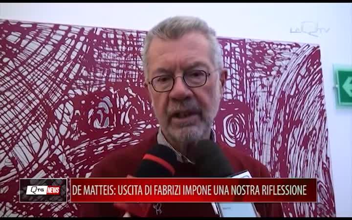 DE MATTEIS(FI): USCITA DI FABRIZI IMPONE UNA NOSTRA RIFLESSIONE