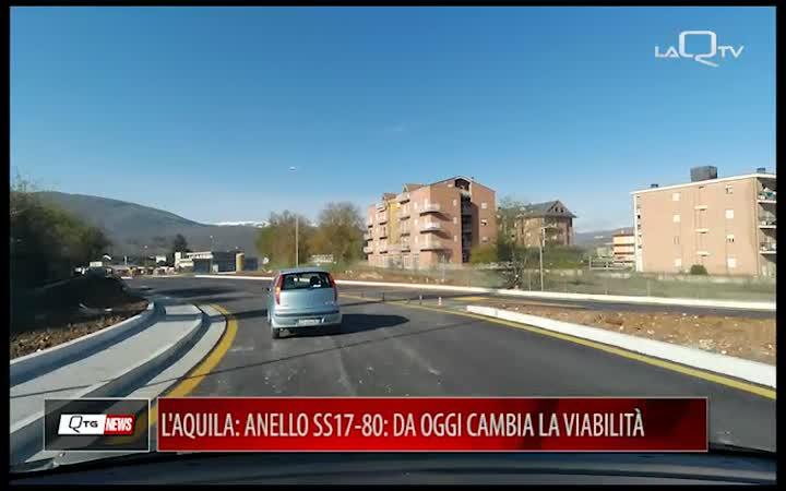 L'AQUILA, ANELLO SS17-80: DA OGGI CAMBIA LA VIABILITÀ