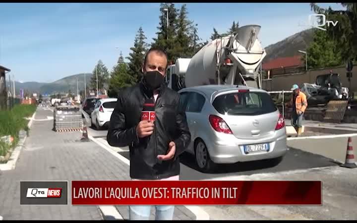 LAVORI L'AQUILA OVEST: TRAFFICO IN TILT