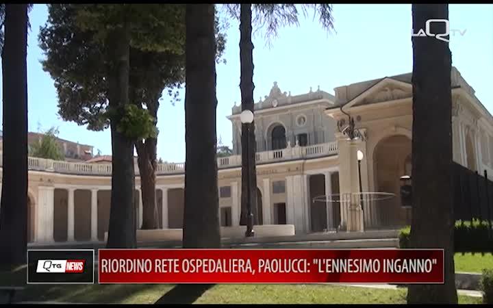 RIORDINO RETE OSPEDALIERA, PAOLUCCI:
