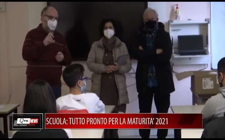 SCUOLA: TUTTO PRONTO PER LA MATURITA' 2021