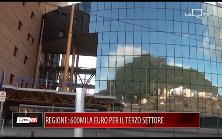 REGIONE: 600MILA EURO AL TERZO SETTORE