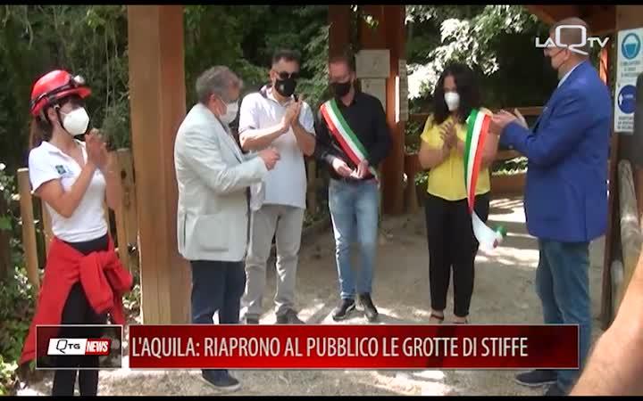 L'AQUILA: RIAPRONO AL PUBBLICO LE GROTTE DI STIFFE