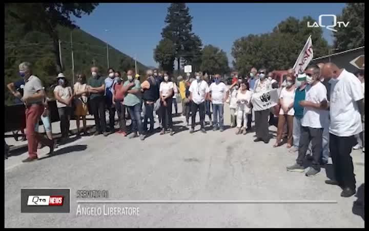 SAN VITTORINO (AQ): PRESIDIO PER IL NO AL POLIGONO